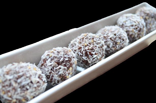 energy balls with aronia